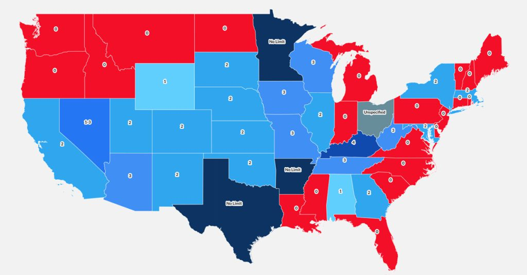 Time off to vote map