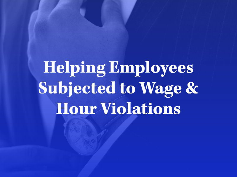 los angeles wage violation lawyer